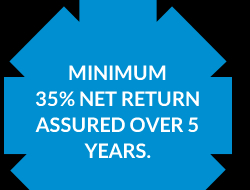 [Minimum 35% NET return assured over 5 years.]