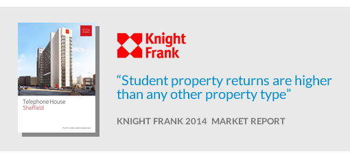 [Student property returns are higher than any other property type - Knight Frank]